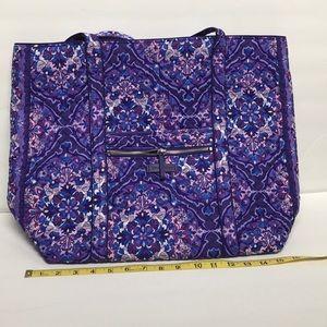 Vera Bradley Iconic tote Regal Rosette Purple